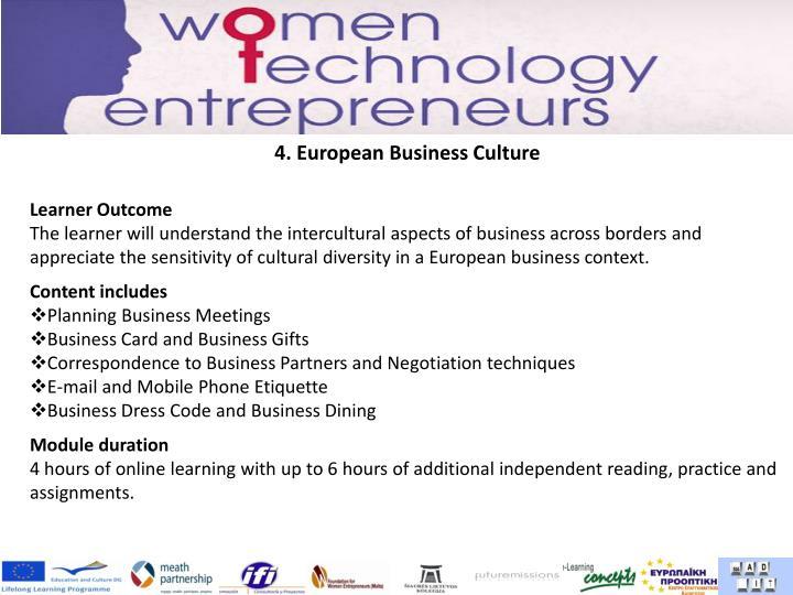4. European Business Culture