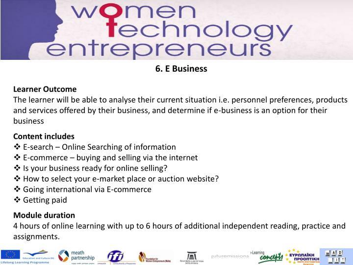6. E Business