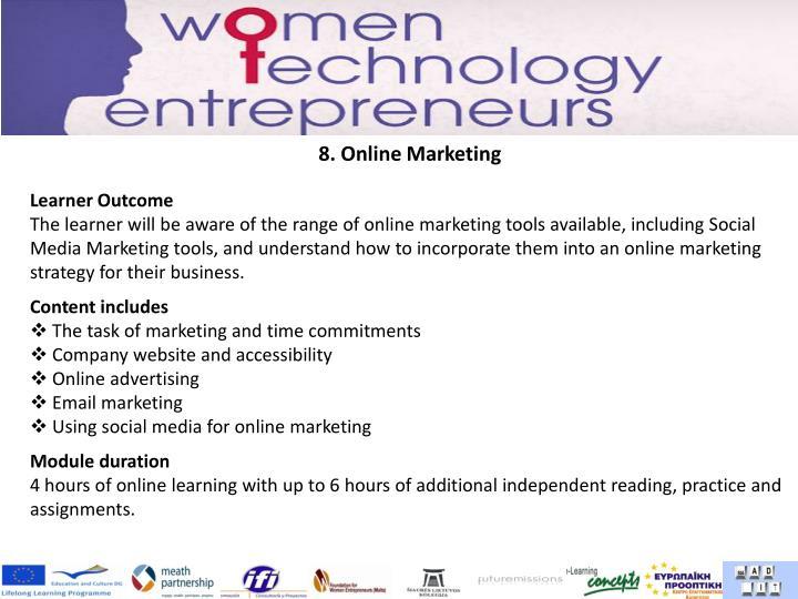 8. Online Marketing