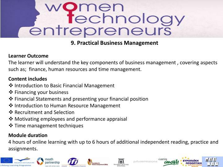 9. Practical Business Management
