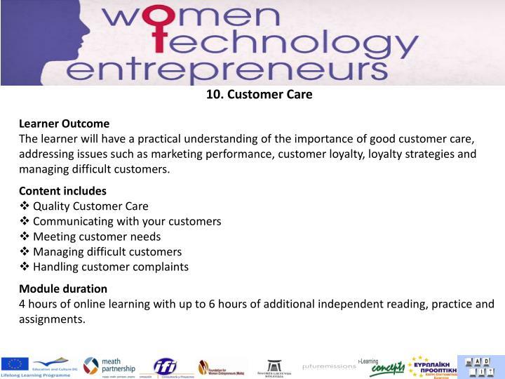 10. Customer Care