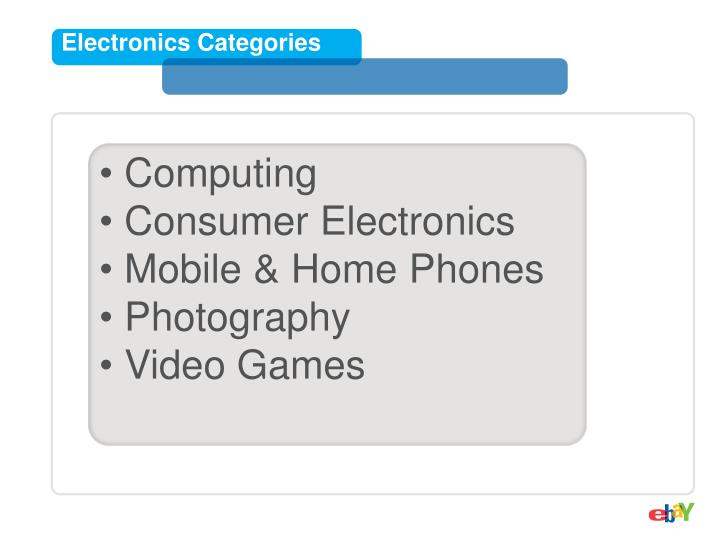 Electronics Categories