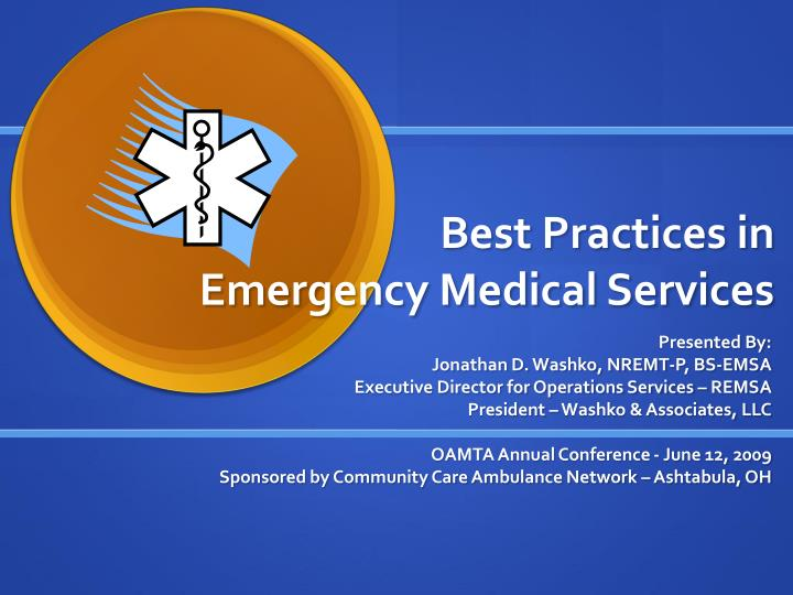 Best practices in emergency medical services