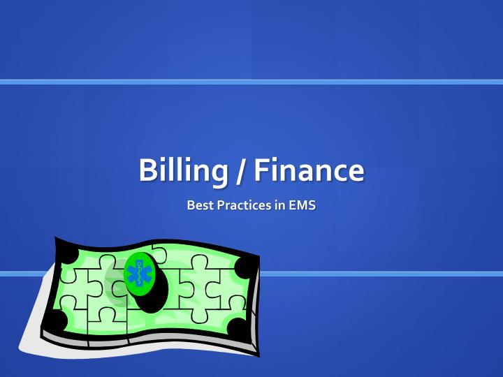 Billing / Finance