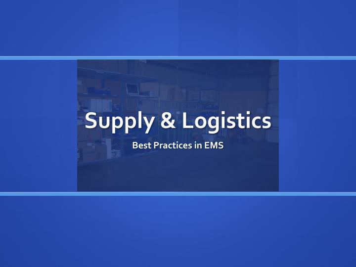 Supply & Logistics