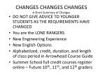 changes changes changes a short summary of changes