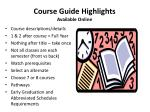 course guide highlights available online