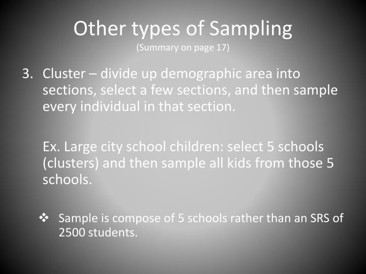 Other types of Sampling