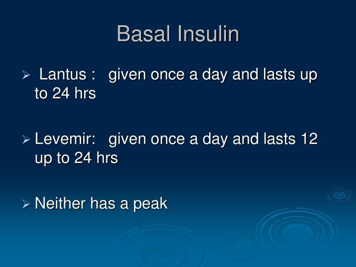 Basal Insulin