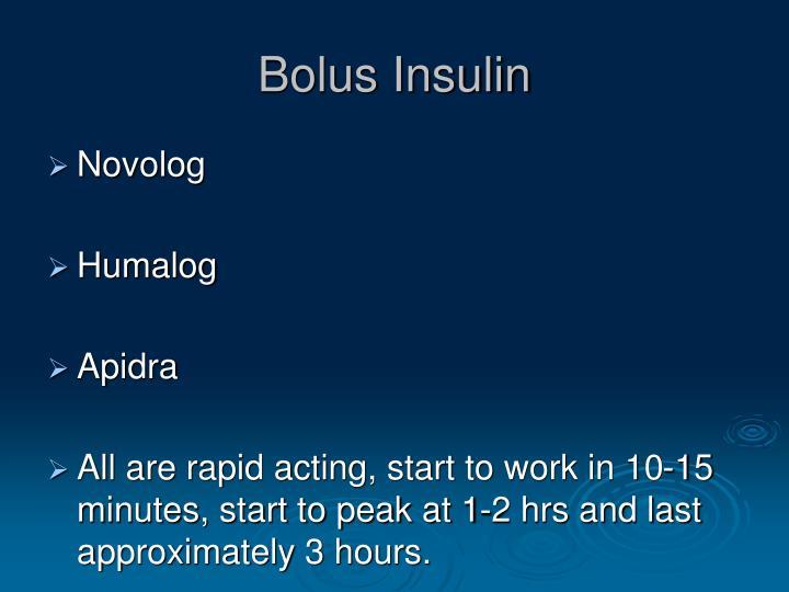 Bolus Insulin