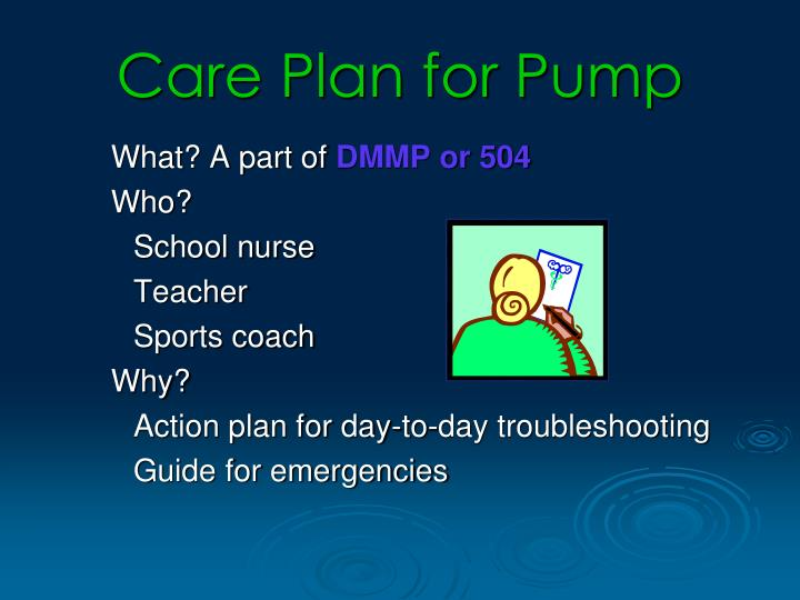 Care Plan for Pump
