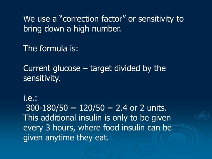 "We use a ""correction factor"" or sensitivity to bring down a high number."