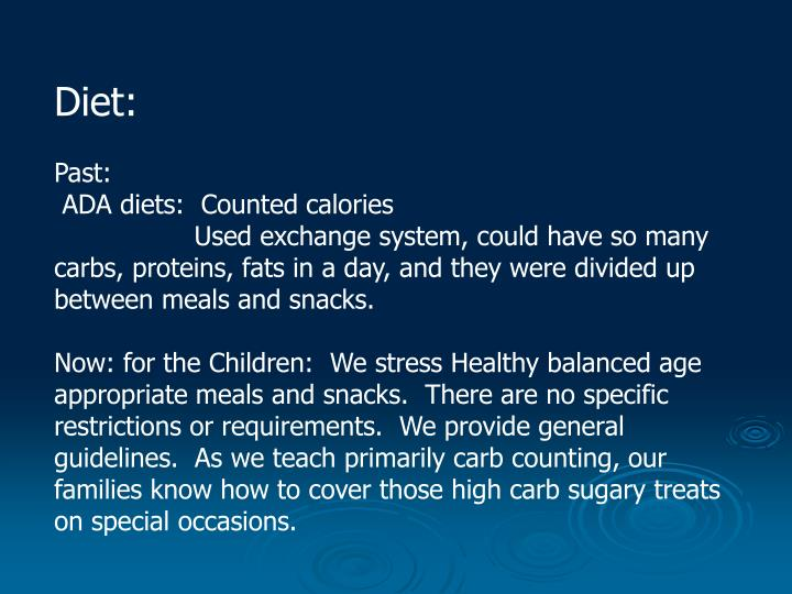 Diet: