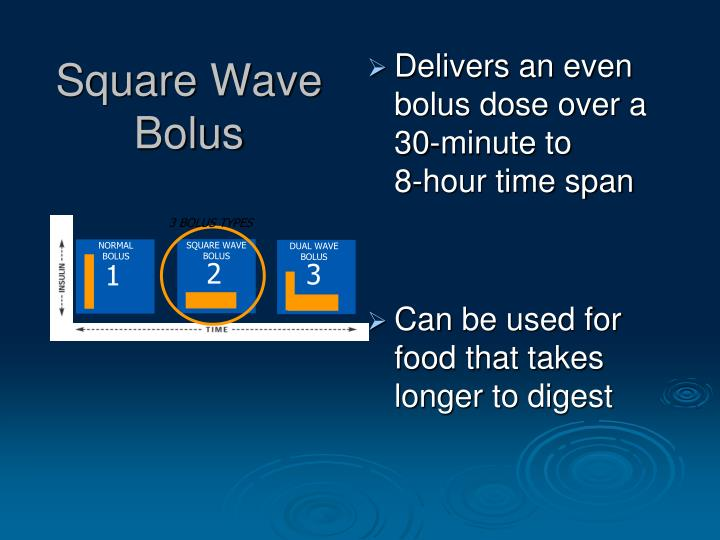 Square Wave Bolus