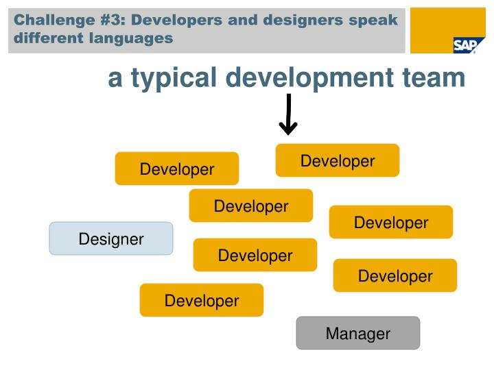 Challenge #3: Developers and designers speak different languages