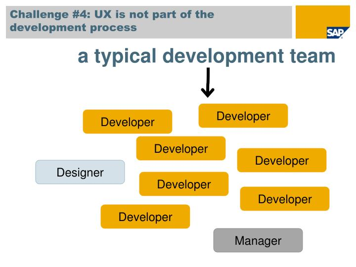 Challenge #4: UX is not part of the development process