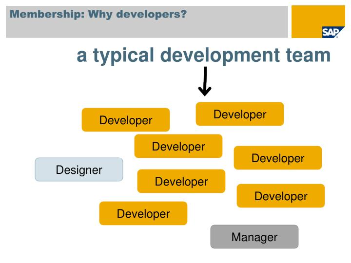 Membership: Why developers?