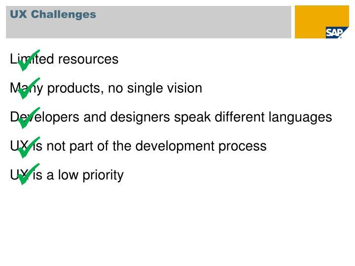 UX Challenges