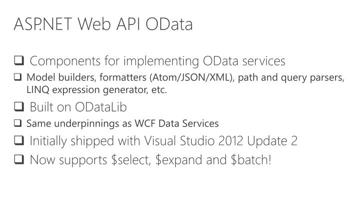 ASP.NET Web API OData