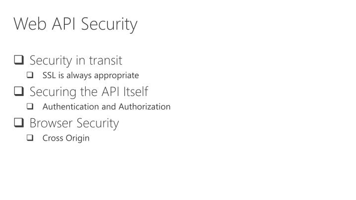 Web API Security