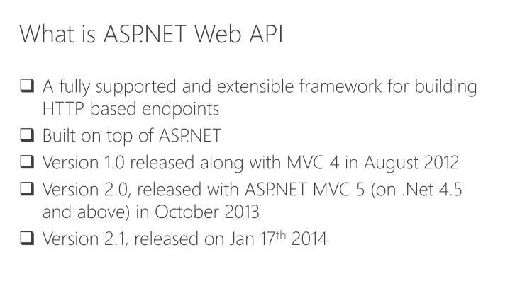 What is ASP.NET Web API