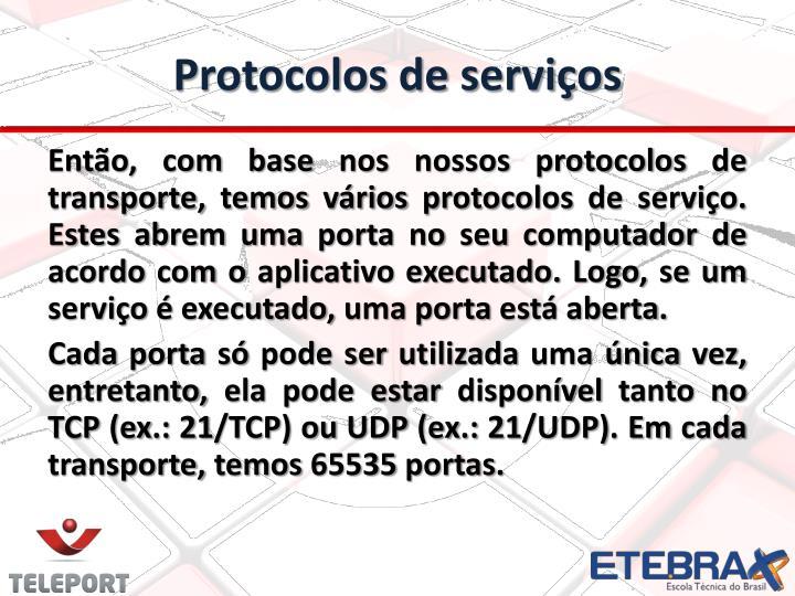 Protocolos de serviços