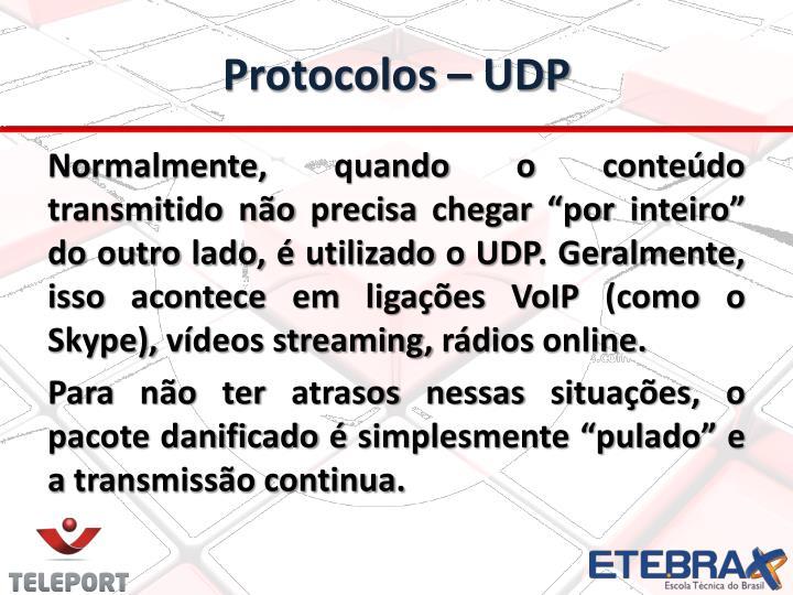 Protocolos – UDP