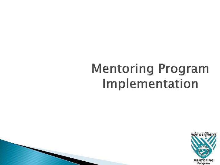 Mentoring Program Implementation