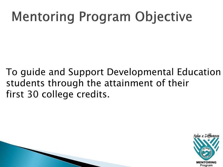 Mentoring Program Objective