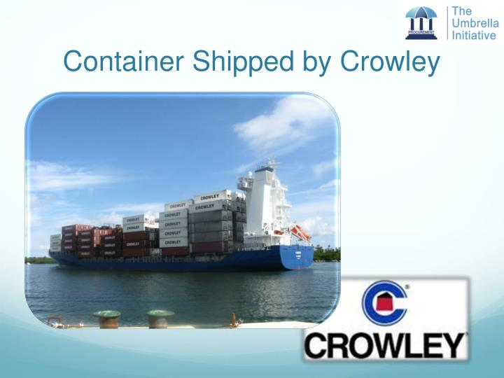 Container Shipped by Crowley