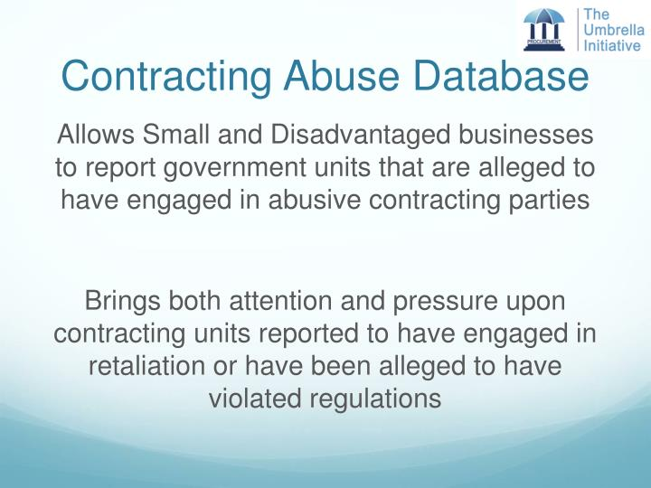 Contracting Abuse Database