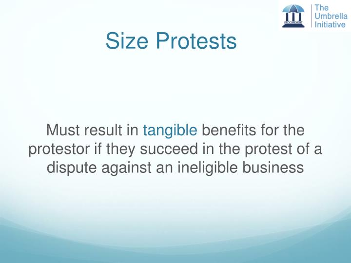 Size Protests