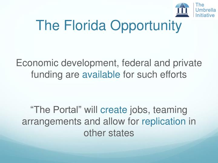 The Florida Opportunity