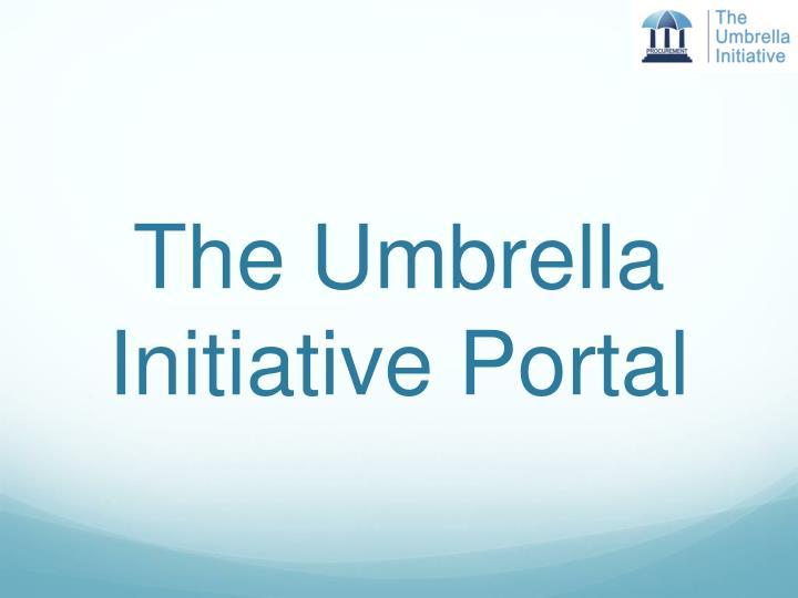 The Umbrella Initiative Portal