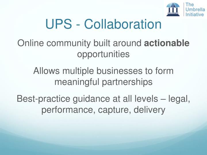 UPS - Collaboration