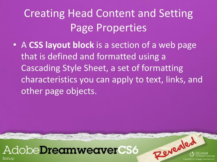 Creating Head Content and Setting Page Properties