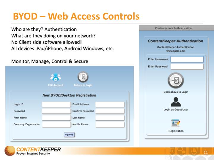 BYOD – Web Access Controls