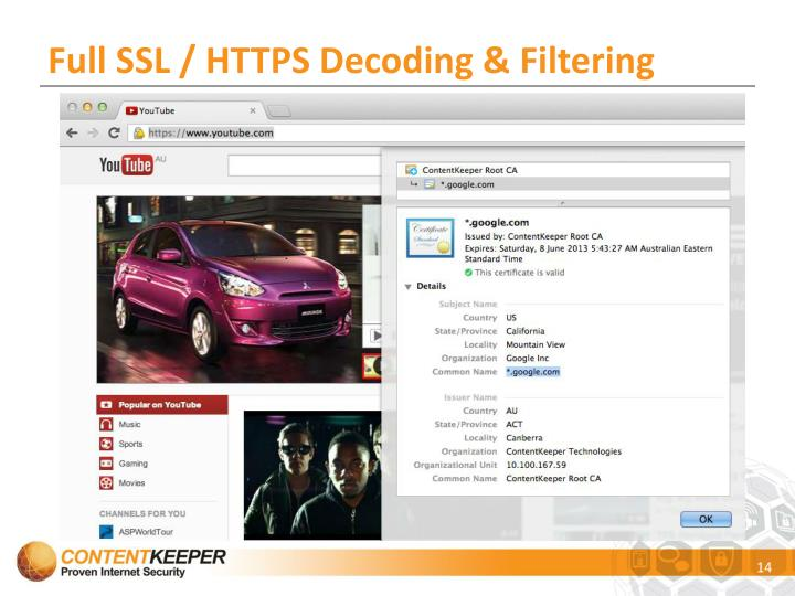 Full SSL / HTTPS Decoding & Filtering