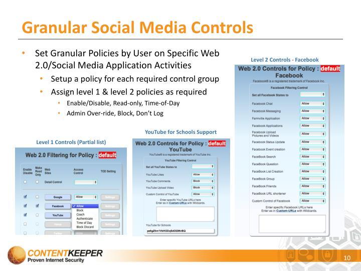Granular Social Media Controls