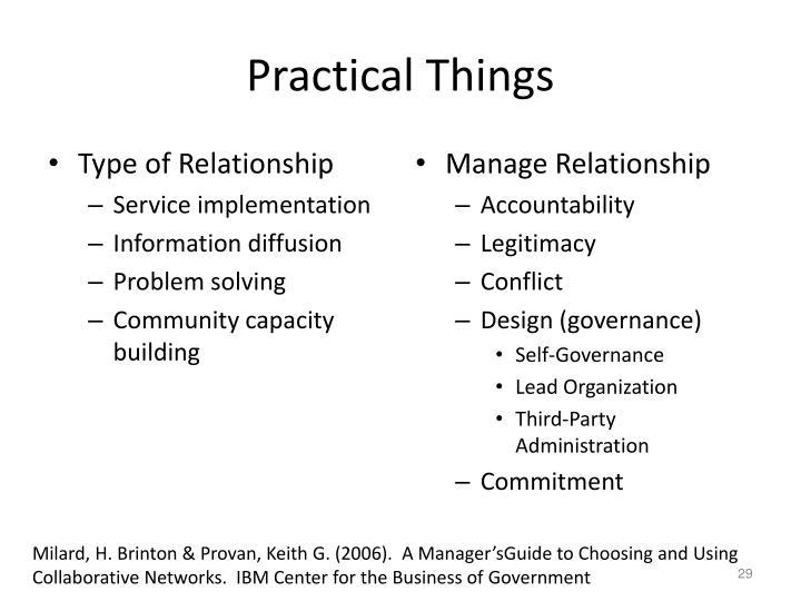 Practical Things