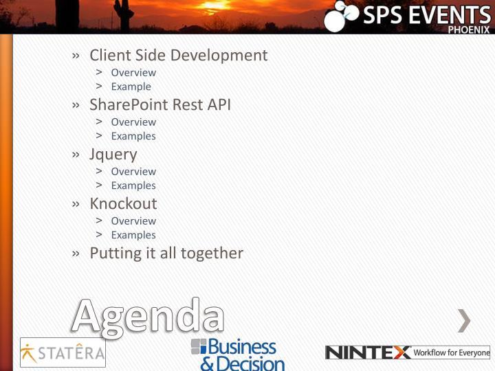Client Side Development