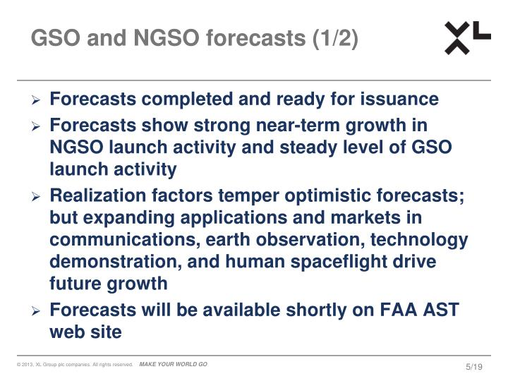 GSO and NGSO forecasts (1/2)