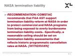 nasa termination liability