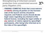 strengthening of informed consent protection from unrestricted second party litigation 4 4