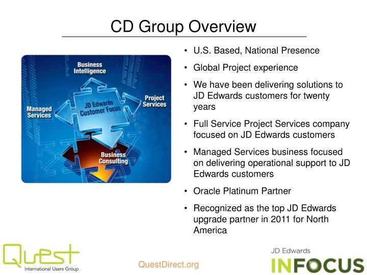 Cd group overview