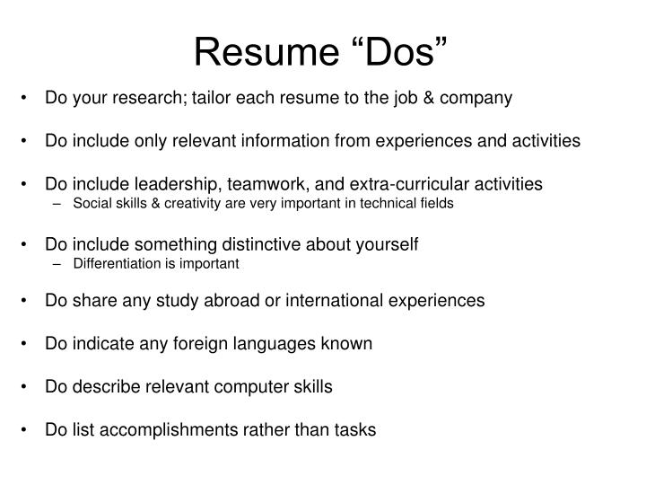 """Resume """"Dos"""""""
