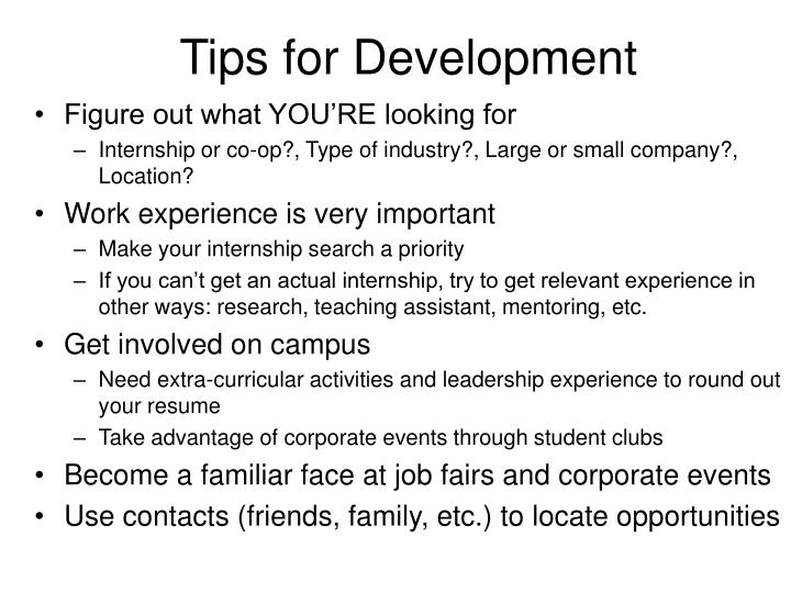 Tips for Development