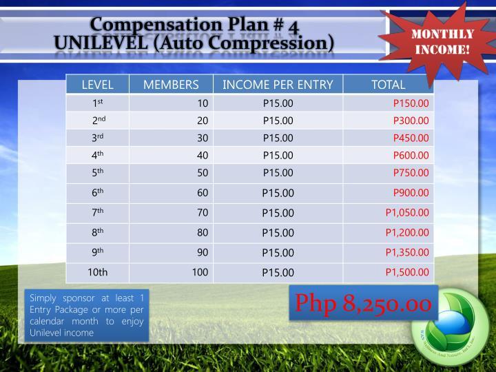 Compensation Plan #