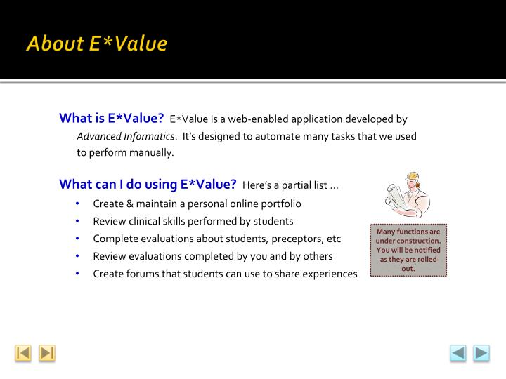 About E*Value