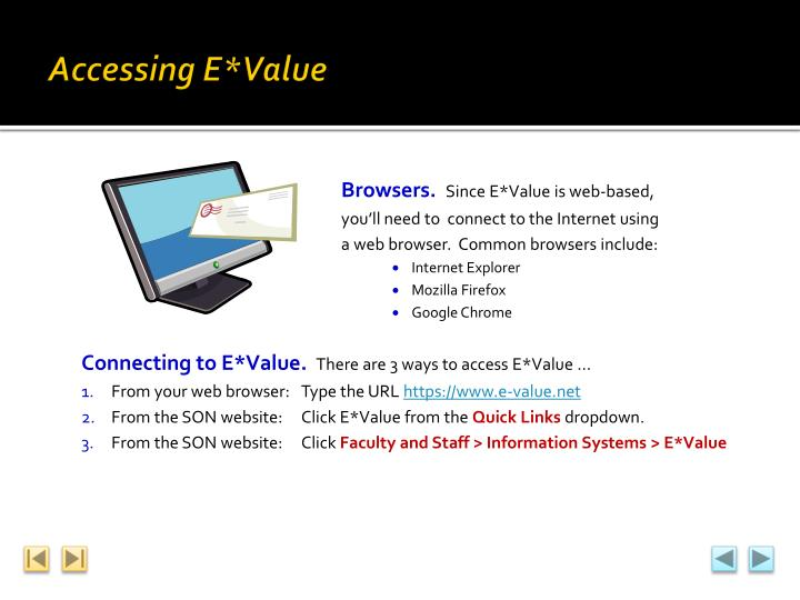 Accessing E*Value